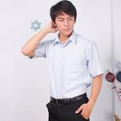 《JIA HUEI》短袖柔挺領吸濕排汗防皺襯衫 3158條紋藍 [台灣製造](16)