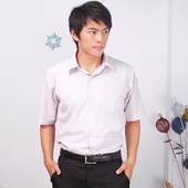 《JIA HUEI》短袖柔挺領吸濕排汗防皺襯衫 3158條紋粉 [台灣製造](16)