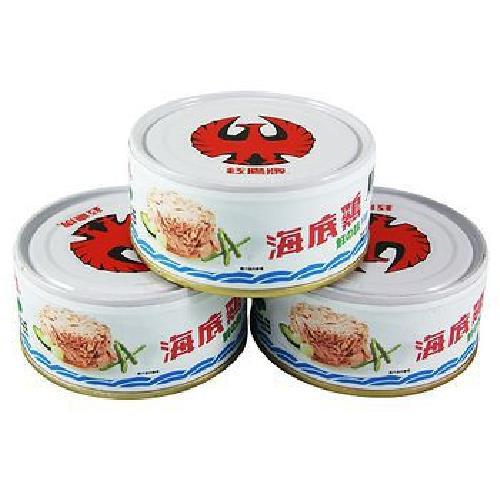 《紅鷹牌》海底雞鮮之味片狀(150gx3罐/組)