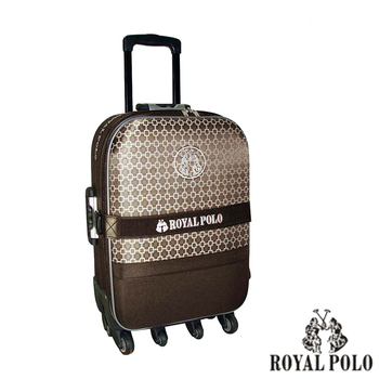 ROYAL POLO皇家保羅 【20吋】中國風六輪加大旅行箱/行李箱/拉桿箱(咖啡)