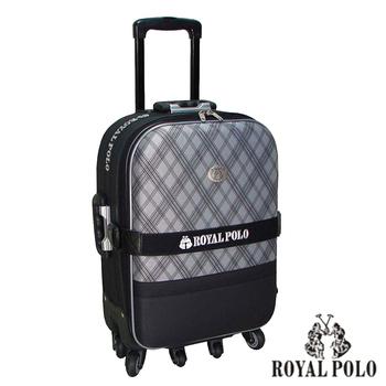 ROYAL POLO皇家保羅 25吋-雋永格紋旅行拉桿箱(黑)