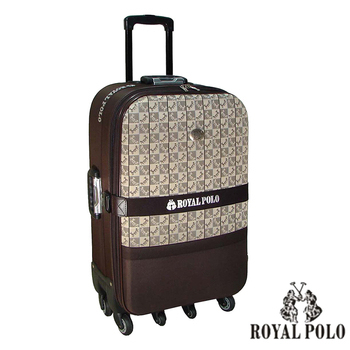 ROYAL POLO皇家保羅 【29吋】古典宮廷加大六輪旅行箱/行李箱/拉桿箱(咖啡)