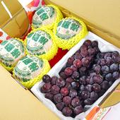 《鮮果日誌》清涼健康禮盒組(東勢新興梨5入+巨峰葡萄2.5台斤)