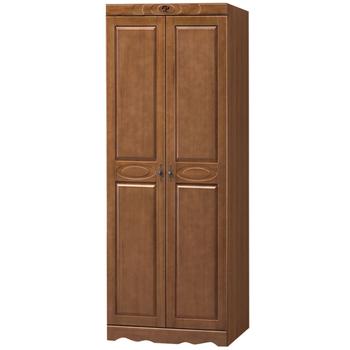 時尚屋 伊琳諾樟木色2.7尺雙吊衣櫥