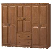 《時尚屋》伊琳諾樟木色8.1尺衣櫥