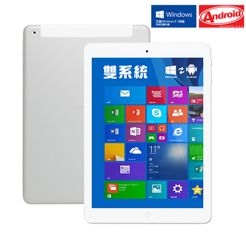 【IS】Air3 9.7吋 Intel八核心架構 安卓/Win8.1雙系統切換通話平板-送觸控手套+8G記憶卡