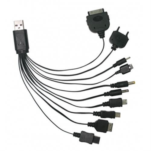KINYO 10合1 USB萬用充電連接線 USB-18