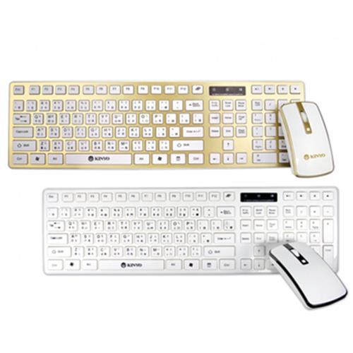 KINYO 2.4G無線鍵鼠組 GKBM-885-顏色隨機