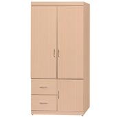 《時尚屋》立德3x6尺衣櫥(白橡色)
