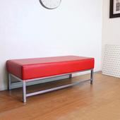 《頂堅》[厚型沙發椅座]15公分(厚)泡棉椅座(皮面)休閒椅/沙發椅子(鮮紅色)