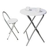 《頂堅》[耐重型]折疊桌椅組(一桌一椅)-素雅白色(素雅白色)