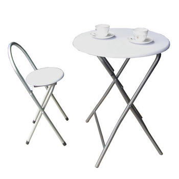 頂堅 [耐重型]折疊桌椅組(一桌一椅)-素雅白色(素雅白色)