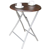 《頂堅》2.2公分鋼管[耐重型]折疊桌(二色可選)(深胡桃木色)