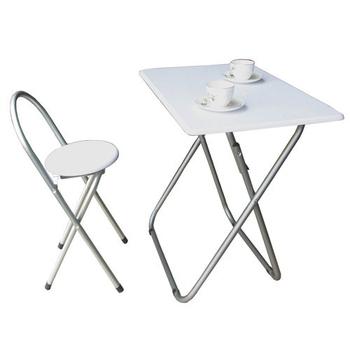 頂堅 [耐重型]折疊桌椅組[長方形]-一桌一椅(素雅白色)