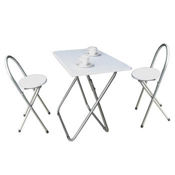 ★結帳現折★頂堅 [耐重型]折疊桌椅組-一桌二椅(素雅白色)