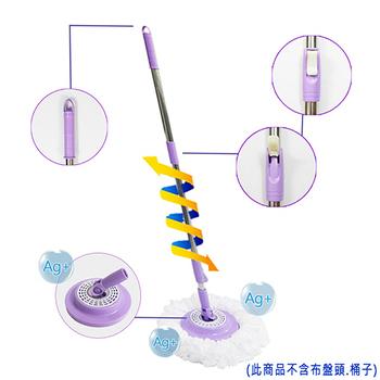 ★結帳現折★小紫寶 進化版手壓抗菌拖把桿 單支 (銀離子球抗菌除臭拖盤)(藍色)