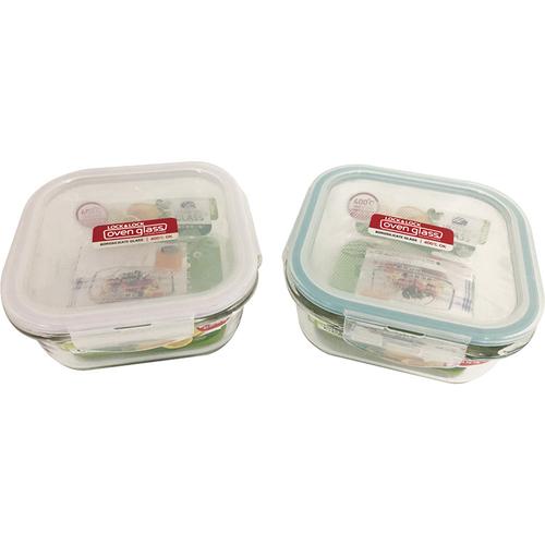 《樂扣》鮮綠耐熱玻璃保鮮盒方形750ML(LLG0006G)