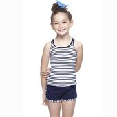 《SAIN SOU》女童兩件式泳裝附泳帽A82429(12)