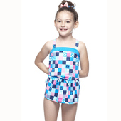 《SAIN SOU》MIT女童兩件式泳裝附泳帽A82427(8)