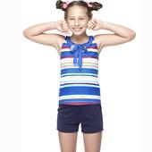 《【SAIN SOU】》少女兩件式泳裝附泳帽A82419(M)