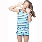 《【SAIN SOU】》少女兩件式泳裝附泳帽A82418(M)