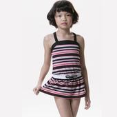 《【SAIN SOU】》女童兩件式泳裝附泳帽A82209(18)