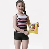 《【SAIN SOU】》女童兩件式泳裝附泳帽A82208(16)