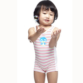 《【SAIN SOU】》女童連身平口泳裝附泳帽A80410(10)