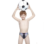 《【SAIN SOU】》兒童競賽型泳褲附泳帽A67406(12)