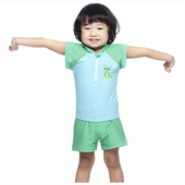 《【SAIN SOU】》MIT女童兩件式泳裝附泳帽A66406(12)
