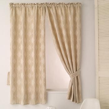 巴芙洛 米勒米色緹花半腰遮光窗簾(200×165cm)