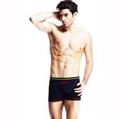 《【SAIN SOU】》競賽/泳隊/專業用三分泳褲加贈矽膠泳帽A57412(L)