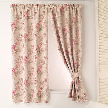 巴芙洛 花語雙層半腰遮光窗簾(300cm×165cm)