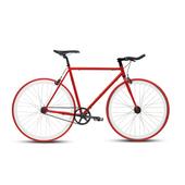 《BIKEONE》V4 EVO 26吋單速車 英式時尚經典款-牛角把(紅)