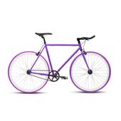 《BIKEONE》V4 EVO 26吋單速車 英式時尚經典款-牛角把(紫)