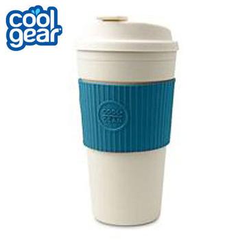 COOL GEAR 馬卡龍色隨行杯 445cc #1132 (共四色可挑選 海洋藍/青草綠/蜜桃紅/摩卡棕)(#1132-海洋藍)
