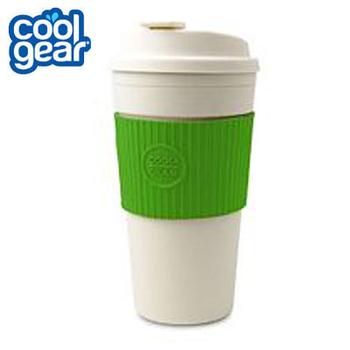 COOL GEAR 馬卡龍色隨行杯 445cc #1132 (共四色可挑選 海洋藍/青草綠/蜜桃紅/摩卡棕)(#1132-青草綠)