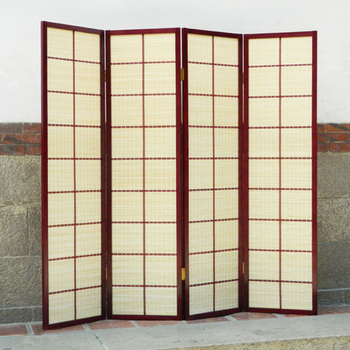 《時尚屋》日式大方格竹片編織屏風