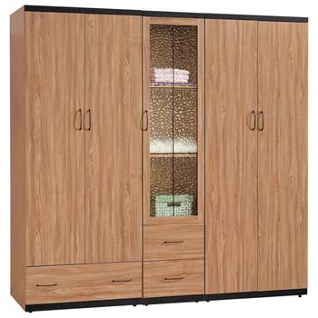 《時尚屋》黑沐7.5尺衣櫃