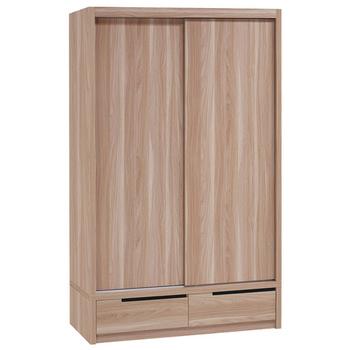 《時尚屋》順益原木色4x7尺二抽衣櫃