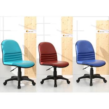 《BuyJM》L型皮面經典氣壓辦公椅/電腦椅(深藍色)