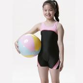 《【SAIN SOU】》女童連身四角泳裝附泳帽A85202(12)