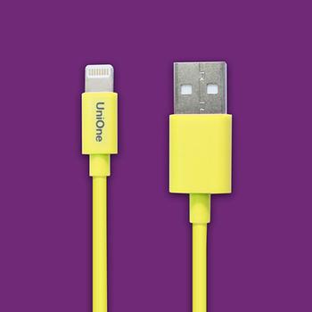 UniOne Apple原廠認證Lighting USB 傳輸充電線(黃/1M)