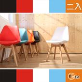 《BuyJM》復刻版皮革座墊造型椅/餐椅/洽談椅(2入) (5色可選)(白色)