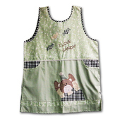 《SADOR莎朵創意雜貨》加大版和風圍裙-小熊糖果-綠色