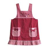《SADOR莎朵創意雜貨》水鑽摩天輪圍裙-波浪-紅