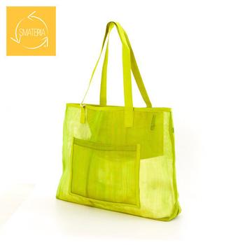 Smateria海洋包 Net Beach Bag網質透明肩揹海灘包S(綠橘)