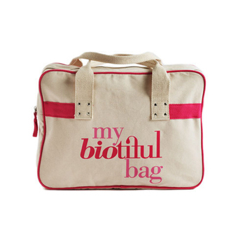 法國my biotiful bag 有機棉Boston Bag(PINK)
