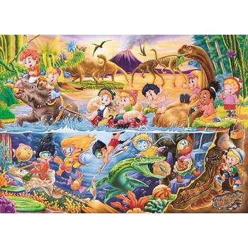DC-PUZZLE 54片兒童地板拼圖-恐龍樂園