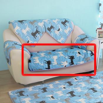 ★結帳現折★HomeBeauty 極度涼感精梳棉沙發保潔墊-2人椅面(春漫鐵塔)